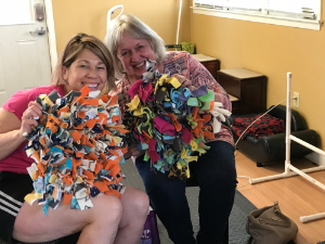 Volunteers Making Snuffle Mats